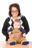 бабушка младенца Стоковая Фотография
