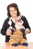 бабушка младенца Стоковые Фото
