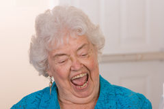 бабушка счастливая Стоковые Изображения