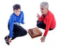 Бабушка с внуком Стоковые Фото