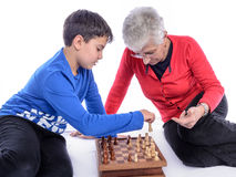 Бабушка с внуком Стоковое Фото
