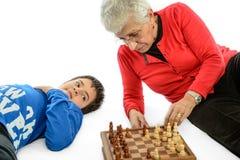 Бабушка с внуком стоковые фотографии rf