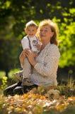 Бабушка с племянником Стоковое Фото