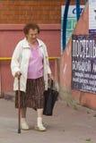 Бабушка с ручкой Стоковая Фотография RF
