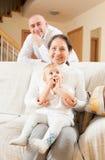 Бабушка с сыном и grandaughter Стоковое Изображение