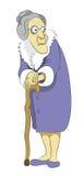 Бабушка с тросточкой Стоковое фото RF