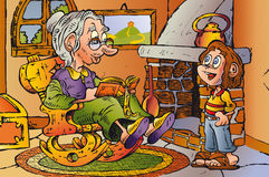 бабушка Иллюстрация штока