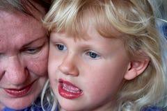 бабушка grandaughter ее портрет Стоковое фото RF
