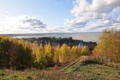 Бабье лето дальше на galichsky озере Стоковые Изображения RF