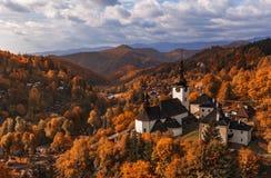 Бабье лето в Spania Dolina - республике словака Стоковая Фотография RF