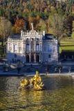 Бавария, Германия - 15-ое октября 2017: Дворец 1863-188 Linderhof Стоковые Изображения