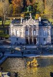 Бавария, Германия - 15-ое октября 2017: Дворец 1863-188 Linderhof Стоковое Изображение RF