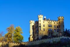 Бавария, Германия - 15-ое октября 2017: Замок Hohenschwangau, chil Стоковое Изображение