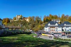 Бавария, Германия - 15-ое октября 2017: Замок Hohenschwangau, chil Стоковая Фотография RF