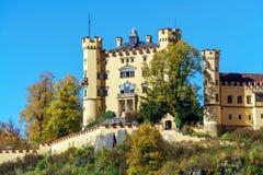 Бавария, Германия - 15-ое октября 2017: Замок Hohenschwangau, chil Стоковое Изображение RF