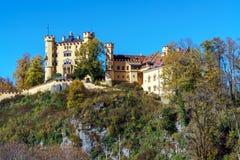 Бавария, Германия - 15-ое октября 2017: Замок Hohenschwangau, chil Стоковые Изображения RF