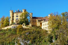 Бавария, Германия - 15-ое октября 2017: Замок Hohenschwangau, chil Стоковые Фото