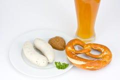 баварская белизна сосиски Стоковые Изображения RF