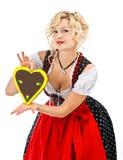 баварская девушка dirndl печенья octoberfest Стоковое фото RF