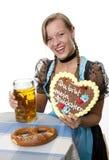 Баварская девушка Стоковые Фото
