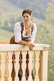 баварская молитва девушки Стоковое Изображение