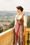 баварская молитва девушки Стоковые Фото
