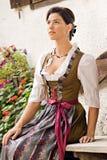 баварская молитва девушки Стоковые Изображения RF