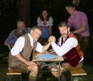 Баварская семья в парке Стоковое Фото