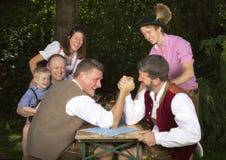 Баварская семья в парке Стоковая Фотография RF