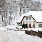 Баварская снежная зима Стоковая Фотография