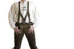 баварские кожаные брюки lederhose стоковое изображение rf