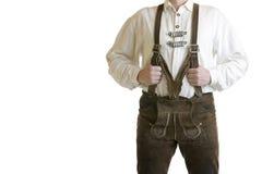 баварские кожаные брюки lederhose стоковые фото