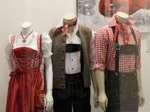 баварские куклы дисплея Стоковое Изображение