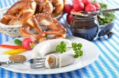 баварские сосиски белые Стоковая Фотография