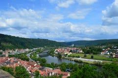 Баварский ландшафт - Wertheim стоковое фото rf