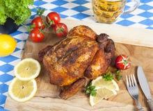 Баварский жареный цыпленок стоковые изображения