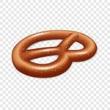 Баварский значок кренделя, реалистический стиль иллюстрация вектора