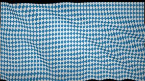Баварский порхая флаг, имитация волн на флаге Стоковые Фотографии RF