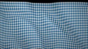 Баварский порхая флаг, имитация волн на флаге видеоматериал