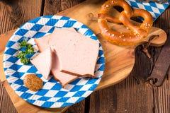 Баварский meatloaf с сладостно senf стоковые фотографии rf