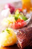 баварское жаркое свинины тарелки Стоковая Фотография