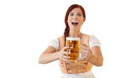 баварское женское redheaded стоковое фото rf