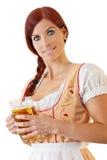 баварское женское redheaded стоковая фотография rf