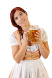 баварское женское redheaded стоковое изображение