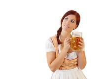 баварское женское redheaded стоковая фотография