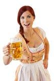 баварское женское redheaded стоковые изображения rf