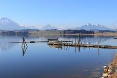 Баварское озеро в Allgäu стоковое фото