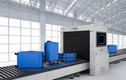 Багажи просматривают машину иллюстрация вектора