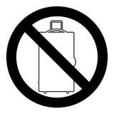 Багаж и багаж запрета бесплатная иллюстрация