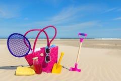 Багаж каникул пляжа стоковые фотографии rf